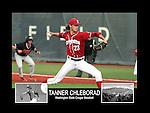 Photo collage of Tanner Chleborad during his college baseball career at Washington State University.