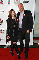 LOS ANGELES, CA, USA - OCTOBER 26: Renee Props, David Rodriguez arrive at An Evening Of Art With Billy Morrison And Joey Feldman Benefiting The Rock Against MS Foundation held at Village Studios on October 26, 2014 in Los Angeles, California. (Photo by David Acosta/Celebrity Monitor)