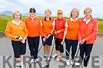 Ballyheigue Castle Golf Club members taking part in Junior Foursomes on Saturday morning at the Tralee Golf Club.<br /> L to r: Kathleen Harty (Lady Captain), Marie McMahon, Kathleen Gilbride, Lena O'Brien, Mary Dowling and Margaret Murphy.