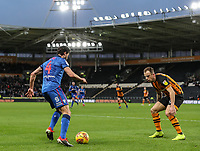 Bolton Wanderers' Jason Lowe competing with Hull City's Kamil Grosicki<br /> <br /> Photographer Andrew Kearns/CameraSport<br /> <br /> The EFL Sky Bet Championship - Hull City v Bolton Wanderers - Tuesday 1st January 2019 - KC Stadium - Hull<br /> <br /> World Copyright © 2019 CameraSport. All rights reserved. 43 Linden Ave. Countesthorpe. Leicester. England. LE8 5PG - Tel: +44 (0) 116 277 4147 - admin@camerasport.com - www.camerasport.com