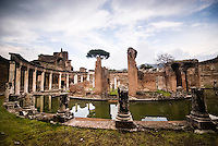 Villa Adriana has been built between 118 and 133 BC, this is the Teatro Marittimo one of the most significant buildings of the entire area