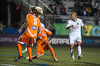 HEMPSTEAD, NY – OCTOBER 12: Daniel Szetela of the New York Cosmos scores a first half goal against the Carolina RailHawks during an NASL match on October 12, 2013 at  Shuart Stadium in Hempstead, New York.