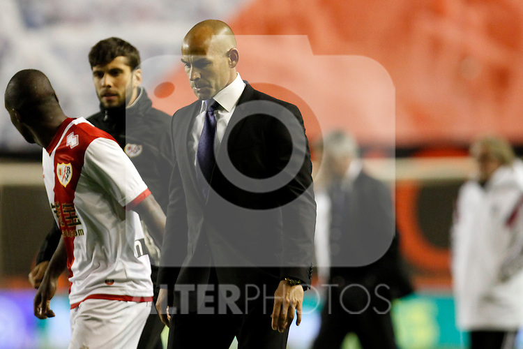 Paco Jemez of Rayo Vallecano during La Liga match between Rayo Vallecano and Real Madrid at Vallecas Stadium in Madrid, Spain. April 08, 2015. (ALTERPHOTOS/Caro Marin)