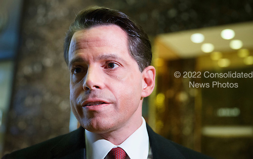 Anthony Scaramucci, a member of the executive committee of President-elect Donald Trump's transition team, talks to reporters in the lobby of Trump Tower in New York, New York, USA, 02 December 2016.<br /> Credit: Justin Lane / Pool via CNP