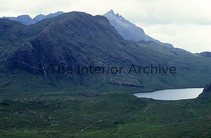 Inland from the fishing lodge and surrounded by the Cuillin Mountains lies Loch Coruisk