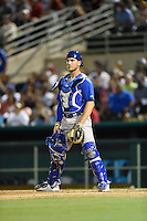 ***Temporary Unedited Reference File***Midland RockHounds catcher Carson Blair (22) during a game against the San Antonio Missions on April 22, 2016 at Nelson W. Wolff Municipal Stadium in San Antonio, Texas.  San Antonio defeated Midland 8-4.  (Mike Janes/Four Seam Images)
