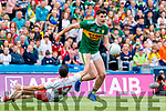 Paul Geaney, Kerry in action against Michael Cassidy, Tyrone during the All Ireland Senior Football Semi Final between Kerry and Tyrone at Croke Park, Dublin on Sunday.