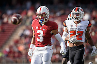 Stanford, CA - November 5, 2016: Michael Rector during  the Stanford vs Oregon State game at Stanford Stadium Saturday. <br /> <br /> Stanford won 26-15.