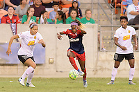 Houston, TX - Sunday Oct. 09, 2016: Jaelene Hinkle, Crystal Dunn during the National Women's Soccer League (NWSL) Championship match between the Washington Spirit and the Western New York Flash at BBVA Compass Stadium. The Western New York Flash win 3-2 on penalty kicks after playing to a 2-2 tie.