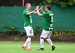 ***BETALBILD***  <br /> Solna 2015-07-25 Fotboll Superettan Athletic FC United - J&ouml;nk&ouml;pings S&ouml;dra IF :  <br /> J&ouml;nk&ouml;ping S&ouml;dras Fredrik Olsson firar sitt 0-1 m&aring;l med Fredric Fendrich under matchen mellan Athletic FC United och J&ouml;nk&ouml;pings S&ouml;dra IF <br /> (Foto: Kenta J&ouml;nsson) Nyckelord:  Superettan Skytteholm Skytteholms IP AFC Athletic FC United J&ouml;nk&ouml;ping J-S&ouml;dra jubel gl&auml;dje lycka glad happy