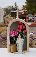 Grave at the old Mexican cemetery in Tubac Arizona.