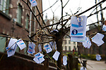 """Belgium, Mons - December 17, 2014 -- European Capital of Culture in 2015 (together with the Czech city of Pilsen) themed """"Where technology meets culture""""; here, a wish tree on place / Le jardin du maïeur -- Photo © HorstWagner.eu"""