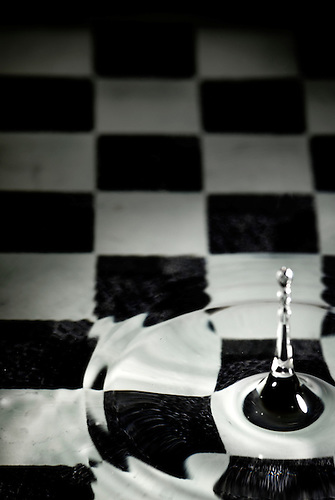 Water chess board.