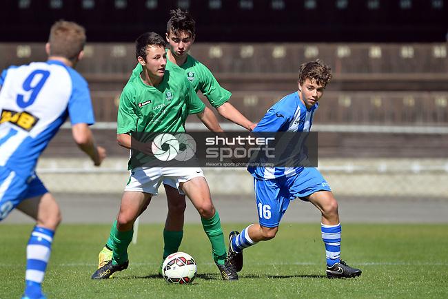 Nelson Marlborough Falcons v Manawatu United, ASB Youth League, 23 November 2014, Trafalgar Park , Nelson, New Zealand. Photo: Barry Whitnall/www.shuttersport.co.nz