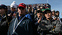 USA fans during Saturday's Fourballs, at the Ryder Cup, Le Golf National, Île-de-France, France. 29/09/2018.<br /> Picture David Lloyd / Golffile.ie<br /> <br /> All photo usage must carry mandatory copyright credit (© Golffile | David Lloyd)