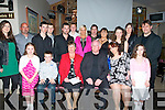 RUBY: The Hennessy Family from 73,Spa Road Tralee celebrated their parents PJ and Molly's 40th wedding anniversary in Kirbys Brogue Inn on Friday night. Front l-r: Sophie,Danny,Molly,PJ,Rachel and Natalie Hennessy. Back l-r: Siobhan O'Mahony, John and Adam Hennessy, Dale O'Mahony, Tony and John Hennessy, Sylwia Jonczyk, PJ Hennessy(jnr), Annette,Rebecca and Caroline Hennessy and Patrick Hurley................. . ............................... ..........