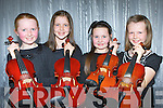 Orlaith O'Sullivan Killorglin, Kate Lynch Glenflesk, Tara Regan Duagh and Cliona Lynch Glenflesk who participated in the Kerry School of Music Musician of the year in the Malton Hotel Sunday evening