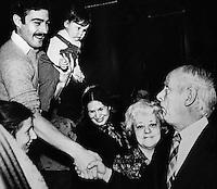 Levesque camapgne electorale ville de Quebec  1980<br /> jacques nadeau