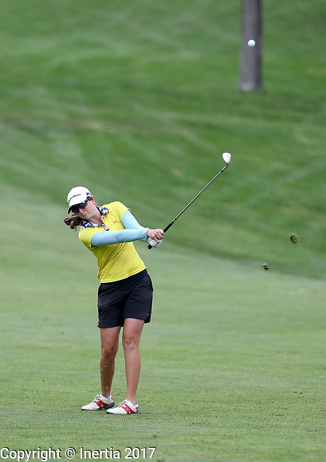 SIOUX FALLS, SD - AUGUST 31: Hannah Arnold chips on to the 7th green, her 16th hole, during the first round of the Great Life Challenge, Symetra Tour stop at Willow Run Thursday afternoon. (Photo by Dave Eggen/Inertia)