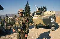 - NATO intervention in Bosnia Herzegovina, Moroccan army checkpoint in Mostar (March 1998)<br />