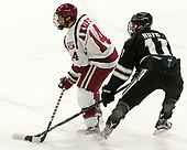 Alexander Kerfoot (Harvard - 14), Niko Rufo (PC - 11) - The Harvard University Crimson defeated the Providence College Friars 3-0 in their NCAA East regional semi-final on Friday, March 24, 2017, at Dunkin' Donuts Center in Providence, Rhode Island.