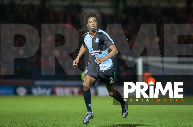 Sido Jombati of Wycombe Wanderers during the Sky Bet League 2 match between Wycombe Wanderers and Leyton Orient at Adams Park, High Wycombe, England on 23 January 2016. Photo by Andy Rowland / PRiME Media Images.