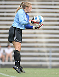 1 September 2007: North Carolina's Anna Rodenbough. The University of South Carolina Gamecocks defeated the University of North Carolina Tar Heels 1-0 at Fetzer Field in Chapel Hill, North Carolina in an NCAA Division I Womens Soccer game.