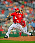 24 May 2009: Washington Nationals' pitcher Joe Beimel on the mound in relief against the Baltimore Orioles at Nationals Park in Washington, DC. The Nationals rallied to defeat the Orioles 8-5 and salvage one win of their interleague series. Mandatory Credit: Ed Wolfstein Photo