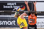 10.05.2015, Muenster, Schlossplatz<br /> smart beach tour, Supercup MŸnster / Muenster, Hauptfeld<br /> <br /> Angriff Stafford Slick  - Block Jonathan Erdmann<br /> <br />   Foto &copy; nordphoto / Kurth