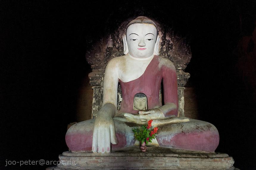 buddha sculpture in Tha Gyar Hit temple, Bagan archeological site, Myanmar
