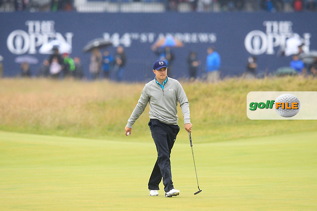 Jordan Speith (USA) during the final round on Monday of the 144th Open Championship, St Andrews Old Course, St Andrews, Fife, Scotland. 20/07/2015.<br /> Picture: Golffile | Fran Caffrey<br /> <br /> <br /> All photo usage must carry mandatory copyright credit (&copy; Golffile | Fran Caffrey)