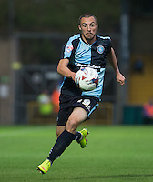 Michael Harriman of Wycombe Wanderers in action during the Capital One Cup match between Wycombe Wanderers and Fulham at Adams Park, High Wycombe, England on 11 August 2015. Photo by Andy Rowland.