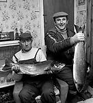 Killarney fishermen WILLIE Coleman and Pat Curran in 1986.<br /> Photo: Donal MacMonagle <br /> e: info@macmonagle.com