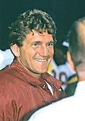 Washington Redskins quarterback Joe Theismann smiles as he is interviewed during Washington Redskins training camp at Dickinson College in Carlisle, Pennsylvania on July 24, 1985.<br /> Credit: Ron Sachs / CNP
