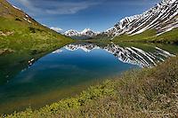 Remote lake and mountain reflection, Alaska