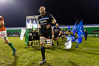Matt Garvey and the rest of the Bath Rugby team run out onto the field. European Rugby Champions Cup match, between Benetton Rugby and Bath Rugby on January 20, 2018 at the Municipal Stadium of Monigo in Treviso, Italy. Photo by: Patrick Khachfe / Onside Images