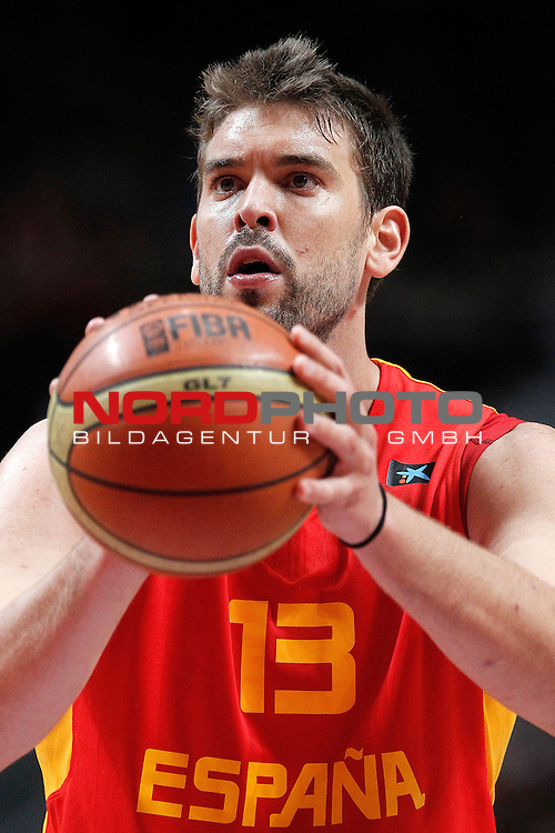 Spain's Marc Gasol during friendly match.August 23,2012. Foto © nph / Acero)