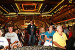 Frank Dicopoulos (MC) and fans -  Meet & Greet - Day 2 - August 1, 2010 - So Long Springfield at Sea aboard Carnival's Glory (Photos by Sue Coflin/Max Photos)
