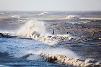 Wind blown waves on the north shore of Barter Island, Beaufort Sea, arctic, Alaska.