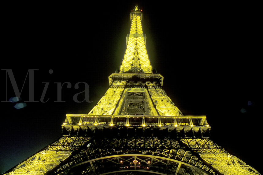 Eiffel Tower, Paris, France, Europe, evening, illuminated