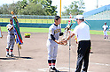 Reo Sato (), AUGUST 20, 2014 - Baseball : Award ceremony of the 36th All Japan Junior High School Championship Baseball final match Sendai Ikuei Shukoh Middle School 3-0 Nakashibetsu at Naruto Otsuka Sports Park Baseball Stadium in Naruto, Tokushima, Japan. (Photo by AFLO SPORT)