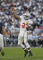 07 November 2009:  Ohio State QB Terrelle Pryor (2) throws..The Ohio State Buckeyes defeated the Penn State Nittany Lions 24-7 at Beaver Stadium in State College, PA.