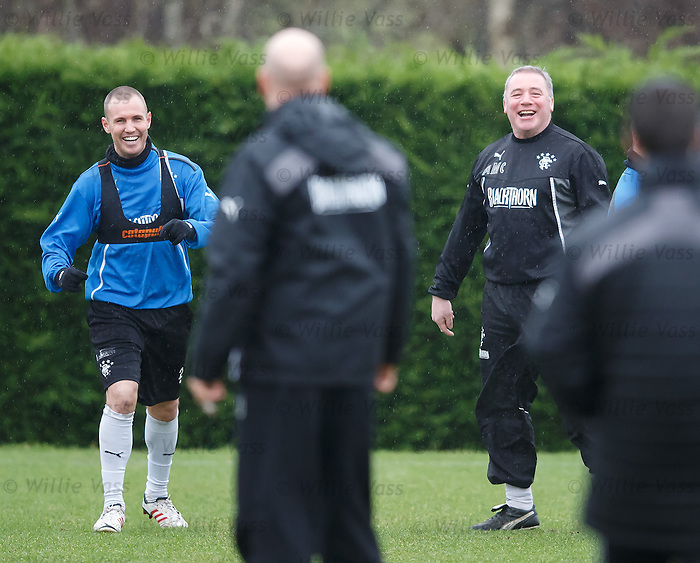 Ally McCoist with Kenny Miller