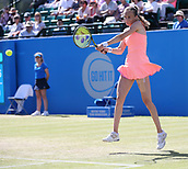 June 15th 2017, Nottingham, England; WTA Aegon Nottingham Open Tennis Tournament day 6;  Magdalena Rybarikova of The Slovak Republic in action against Alison Riske of USA