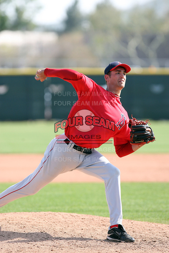 Johnny Hellweg, Los Angeles Angels 2010 minor league spring training..Photo by:  Bill Mitchell/Four Seam Images.