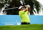 TAIPEI, TAIWAN - NOVEMBER 19:  Chamnian Chitprasong of Thailand tees off on the 1st hole during day two of the Fubon Senior Open at Miramar Golf & Country Club on November 19, 2011 in Taipei, Taiwan. Photo by Victor Fraile / The Power of Sport Images