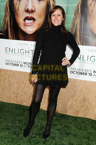 "Molly Shannon.HBO's ""Enlightened"" Los Angeles Premiere held at Paramount Studios, Los Angeles, California, USA. .October 6th, 2011.full length black dress high collar long sleeves hand on hip.CAP/ADM/BP.©Byron Purvis/AdMedia/Capital Pictures."