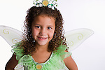 USA, Illinois, Metamora, Portrait of girl (8-9) in fairy costume