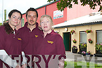 Tony Duggan, manager of Listowel Community Centre, with Caroline Sweeney, (Gem)left and Catherine Nolan Right. (Gem).   Copyright Kerry's Eye 2008
