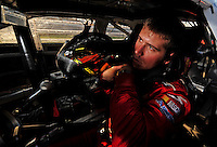 Oct 2, 2008; Talladega, AL, USA; ARCA RE/MAX Series driver Brian Scott during qualifying for the Remax 250 at Talladega Superspeedway. Mandatory Credit: Mark J. Rebilas-